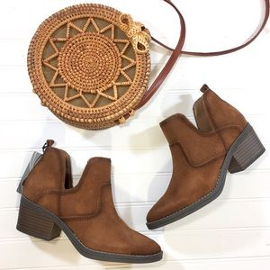 NEW Ortholite Leather Suede Woodcut Ankle Boots